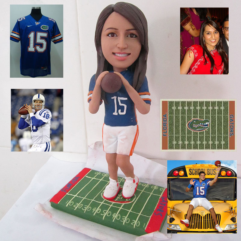 Football/Ruby girl action custom figure