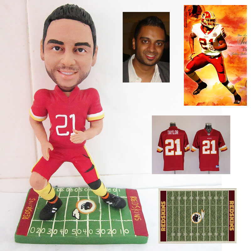 Strong football player action custom figure