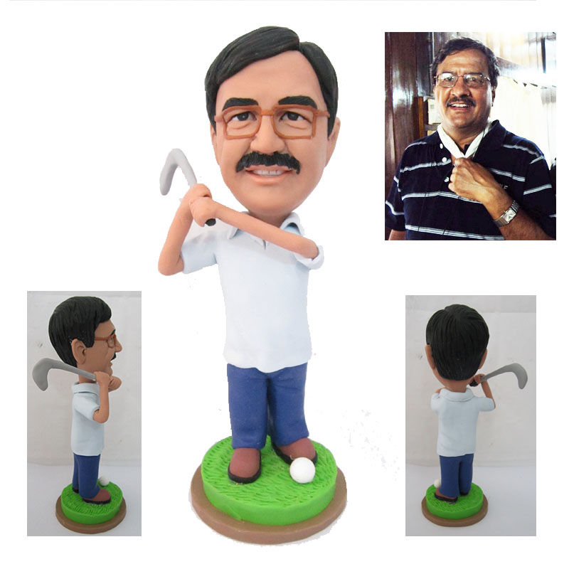 Dad play golf custom figure