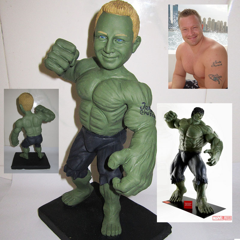 Green hulk action custom figure