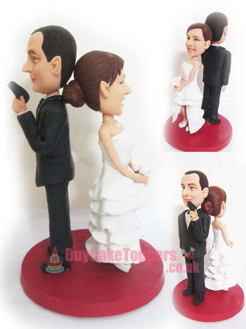 007 agent theme wedding topper