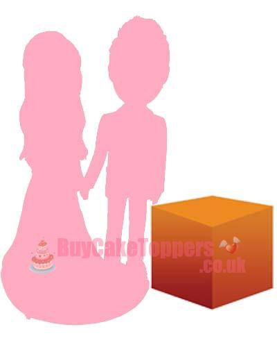 2 person custom figure with MEDIUM object