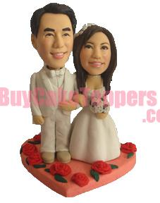 sweet heart wedding cake topper