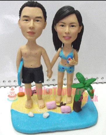 beach couple anniversary gift