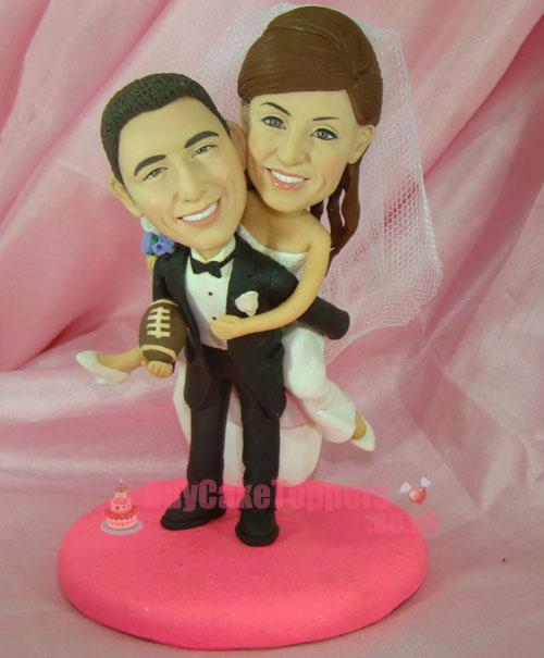 Happy couple wedding cake topper
