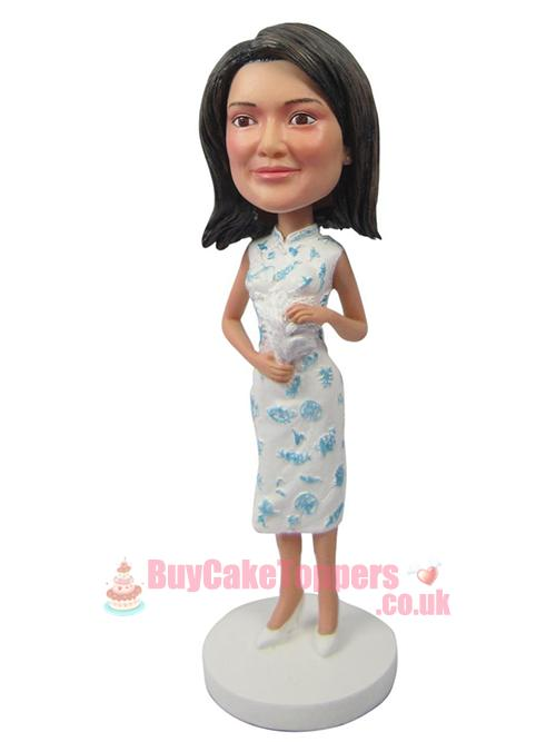 cheongsam girl 3D doll