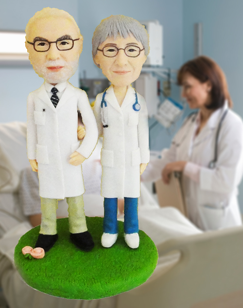 personalised doctor anniversary topper