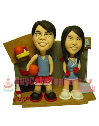 basketball lover cake topper