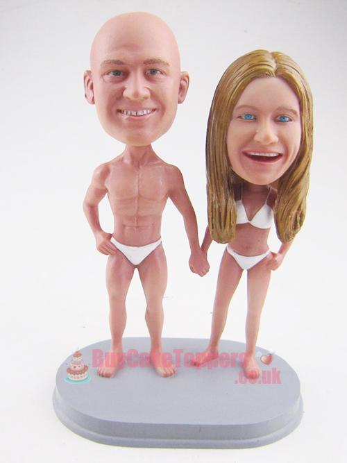 body builder theme cake topper