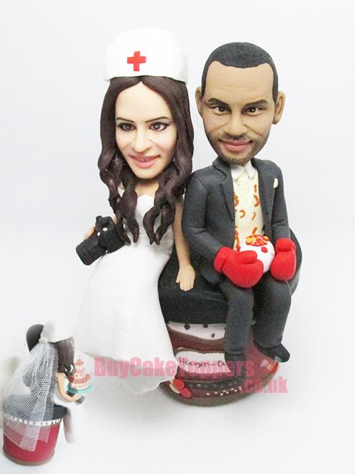 boxer theme wedding cake topper