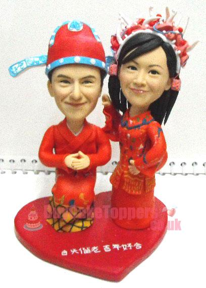 Chinese traditional wedding cake topper