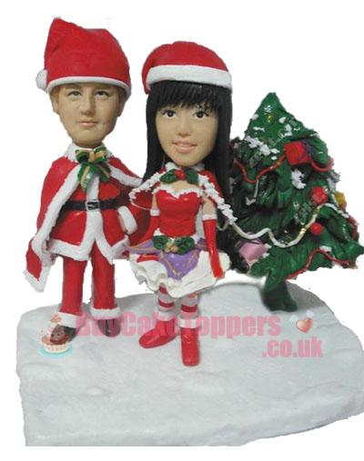 Christmas couple figurine