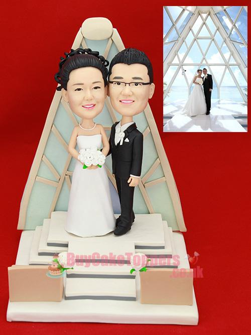 church theme wedding cake topper