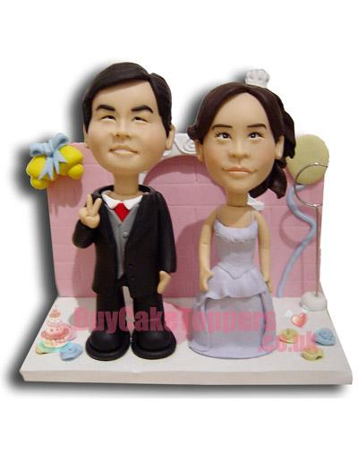 wedding theme cake topper