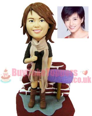 cute lady custom figurine