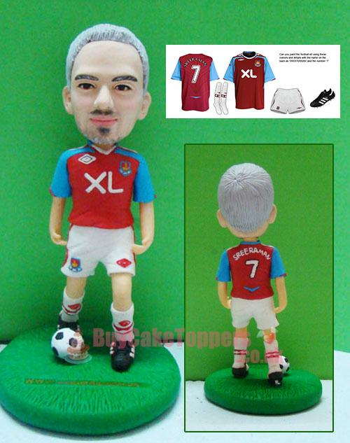 Personalized footballer figurine