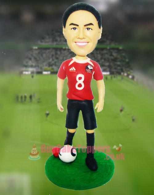 female footballer figurine