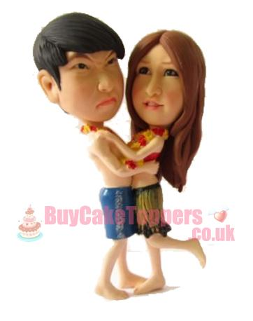 funny face couple custom figurine
