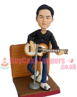 guitar man custom figurine