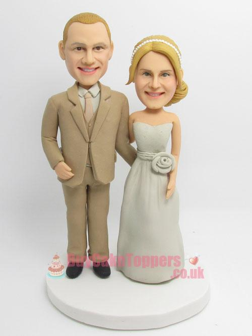 happy couple cake topper