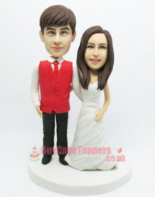 happy couple theme cake topper