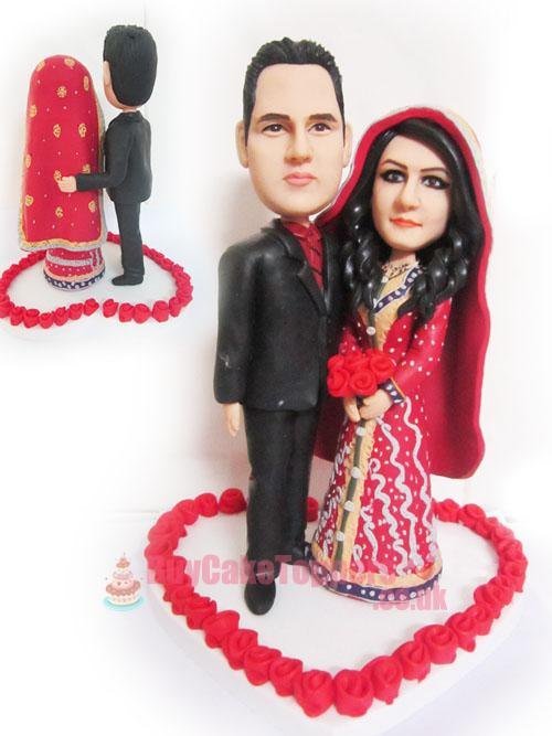 sweet India wedding cake topper