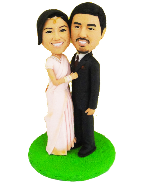 India style wedding cake topper