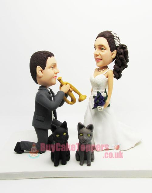 marry me theme cake topper