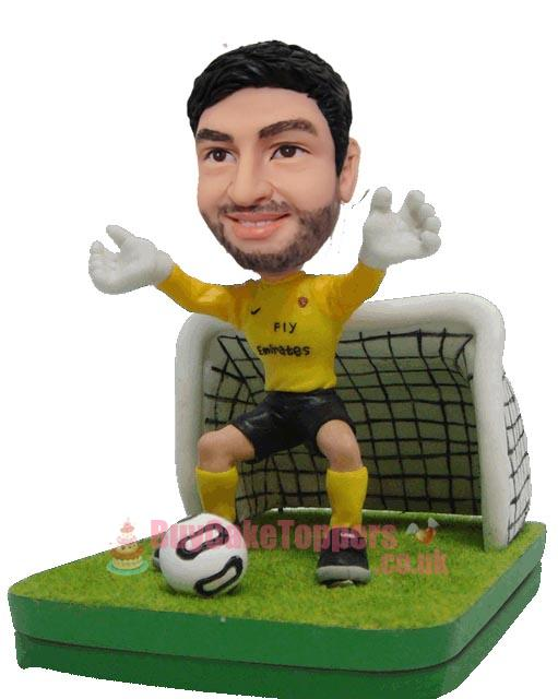customised goal keeper figurine