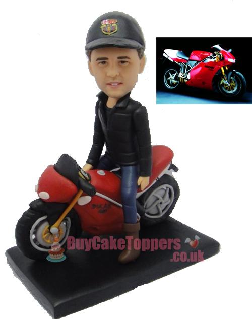 motorbike cool man figurine custom gift