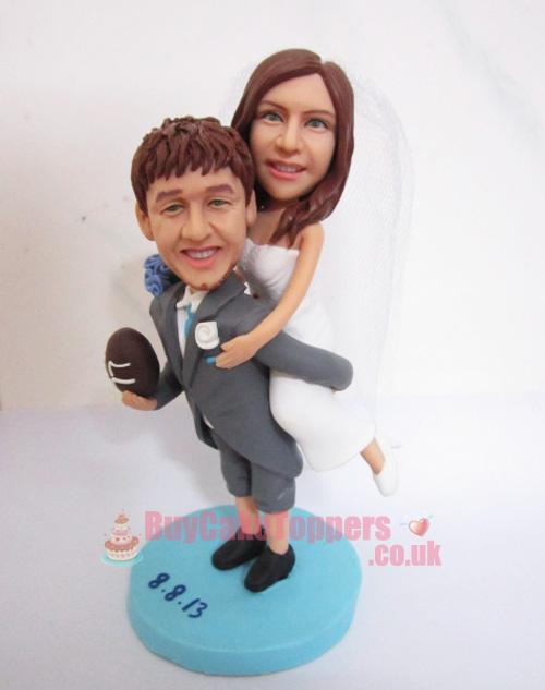 rugby player wedding topper