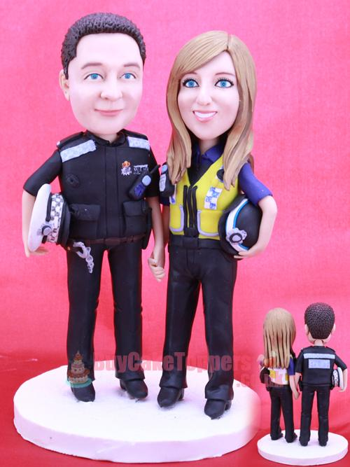 police themed cake topper