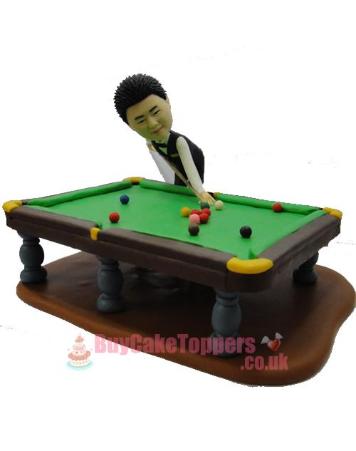 snooker pool player custom action figure