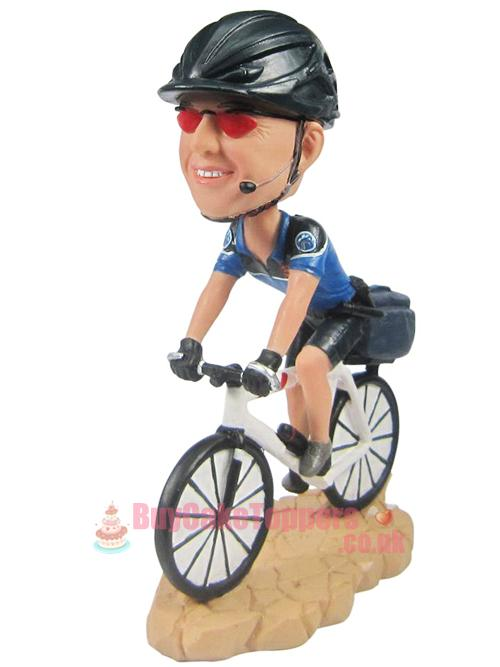 Ride a bike themed figure