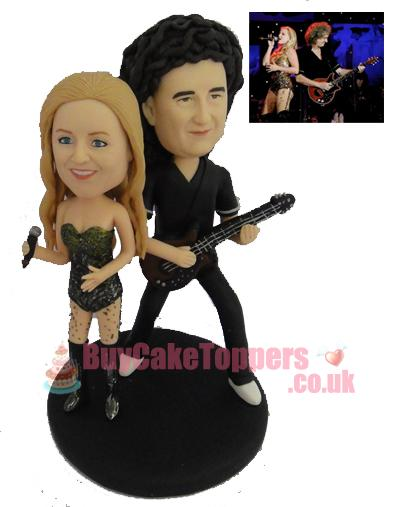 Rock star wedding cake topper
