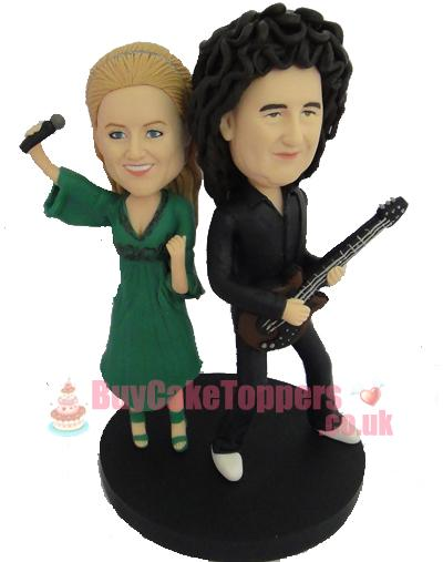 Rock star anniversary cake topper