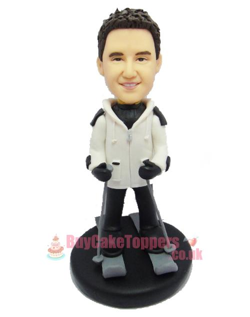 personalised skii figurine