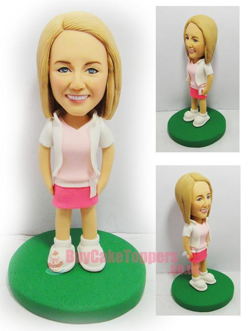 casual wear girl 3D figure