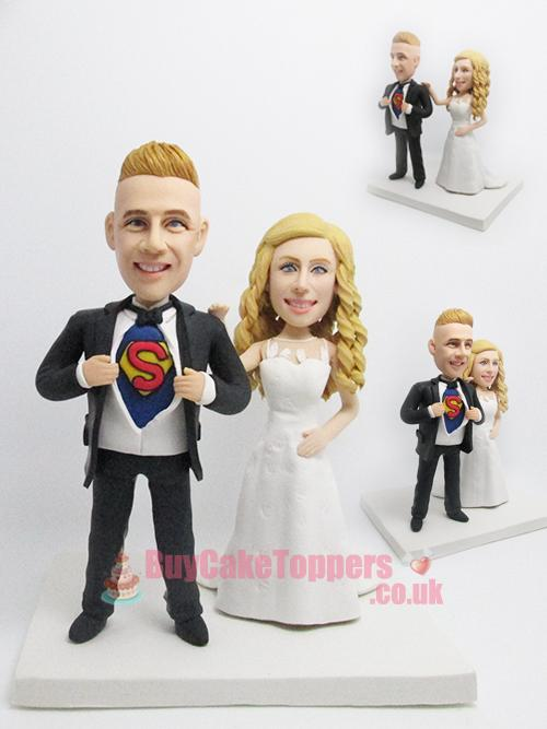 superman themed cake topper