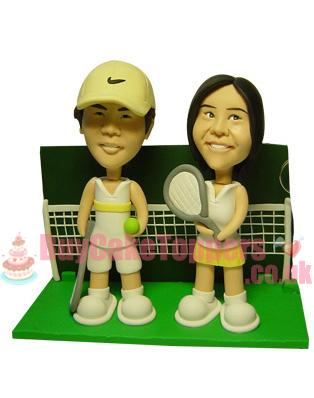 tennis couple anniversary topper