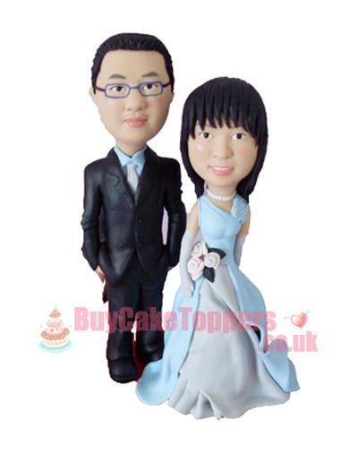 happy couple personalised cake topper