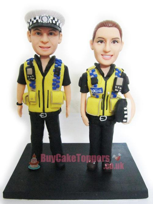 police officer couple figures