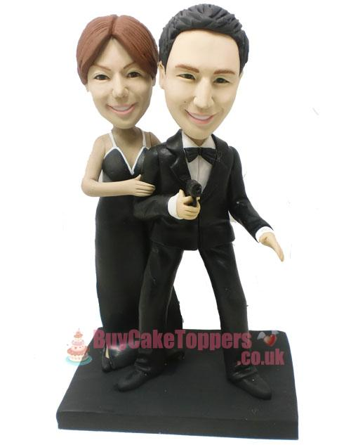 James Bond 007 wedding cake toper