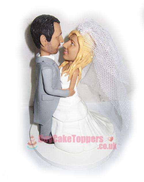 kiss the bride wedding cake topper