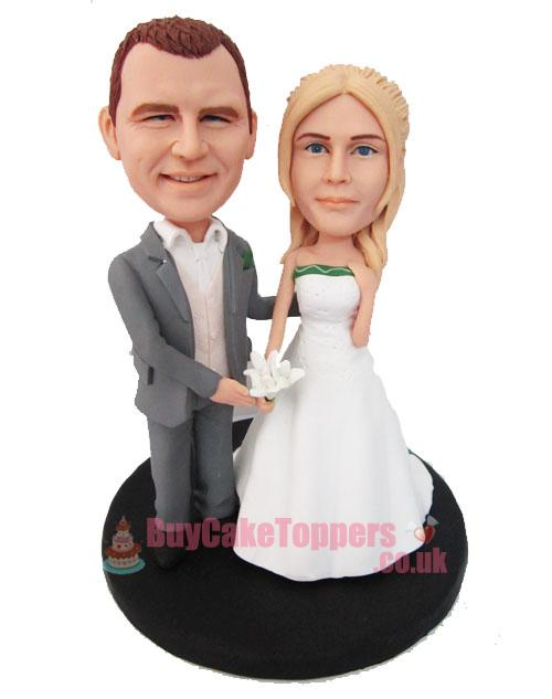 get married personalised wedding cake topper - Custom cake ...
