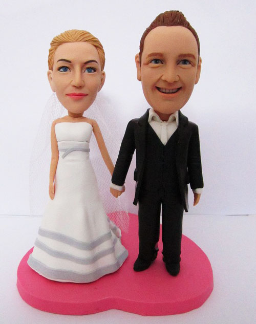 newly married couple wedding cake topper
