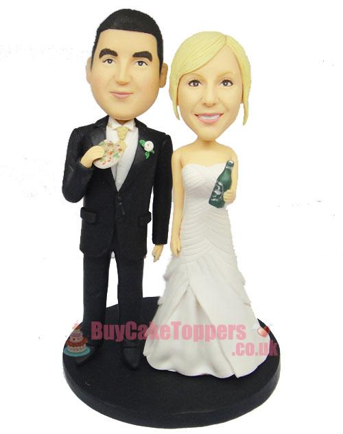party style wedding cake topper