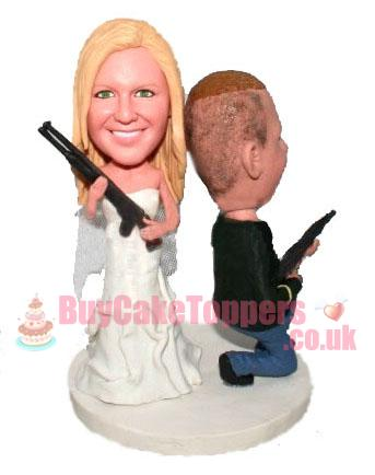 gangs custom wedding cake topper